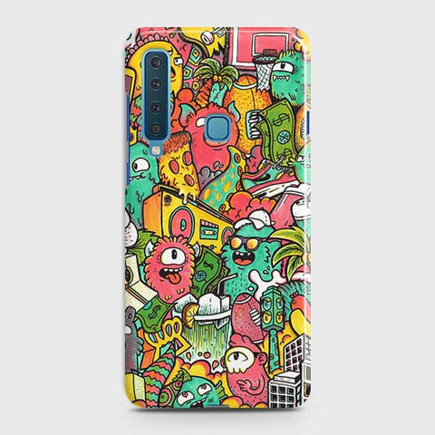 Candy Colors Trendy Sticker Bomb Case For Samsung Galaxy A9 2018 / A9s / A9 Star Pro
