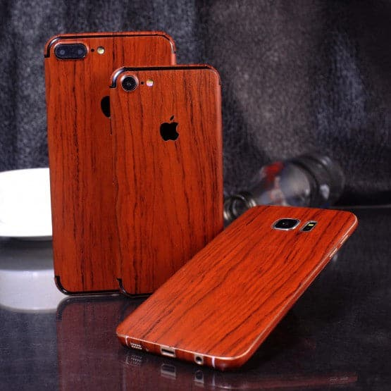 Wood Material Vinyl Phone Skin For Oppo F1 Plus / R9 - Acacia Wood
