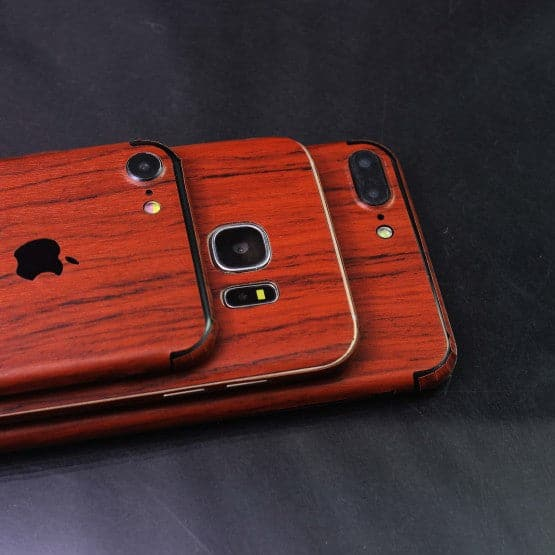 Wood Material Vinyl Phone Skin For Samsung C7 - Acacia Wood