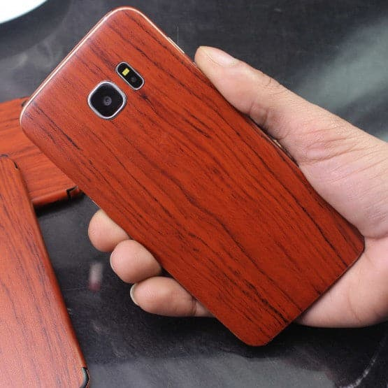 Wood Material Vinyl Phone Skin For Samsung A8 2018 - Acacia Wood