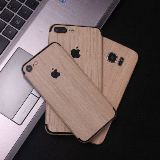 Wood Material Vinyl Phone Skin For iPhone XS Max - Bamboo Wood