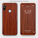 Wood Material Vinyl Phone Skin For Xiaomi Redmi S2 - Acacia Wood