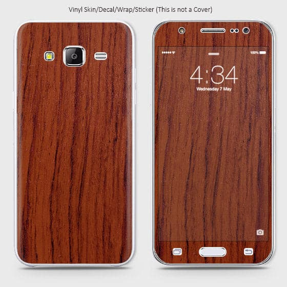 Wood Material Vinyl Phone Skin For Samsung Galaxy J7 - Acacia Wood