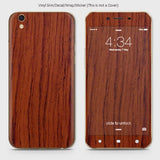 Wood Material Vinyl Phone Skin For Oppo A37 - Acacia Wood