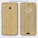 Wood Material Vinyl Phone Skin For HTC U11 - Bamboo Wood