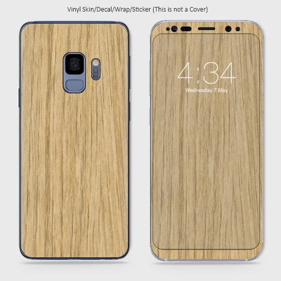 Wood Material Vinyl Phone Skin For Samsung Galaxy S9 - Bamboo Wood