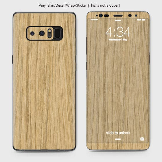 Wood Material Vinyl Phone Skin For Samsung Galaxy Note 8 - Bamboo Wood