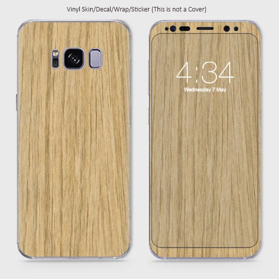Wood Material Vinyl Phone Skin For Samsung Galaxy S8 - Bamboo Wood