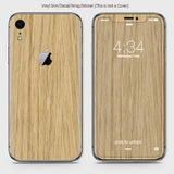 Wood Material Vinyl Phone Skin For iPhone XR - Bamboo Wood