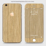 Wood Material Vinyl Phone Skin For iPhone 6 Plus & iPhone 6S Plus - Bamboo Wood