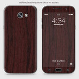 Wood Material Vinyl Phone Skin For Samsung A7 2017 - Pear Wood