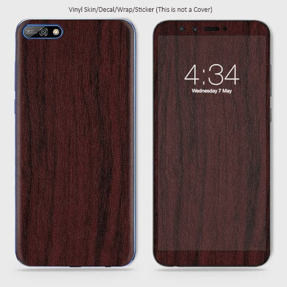 Wood Material Vinyl Phone Skin For Huawei Y6 2018 - Pear Wood