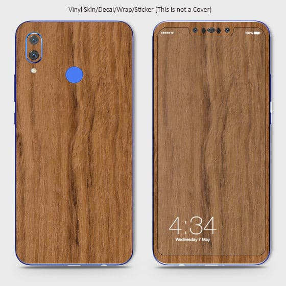 Wood Material Vinyl Phone Skin For Huawei Nova 3 - Sandal Wood