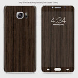 Wood Material Vinyl Phone Skin For Samsung Galaxy Note 5 - Walnut Wood