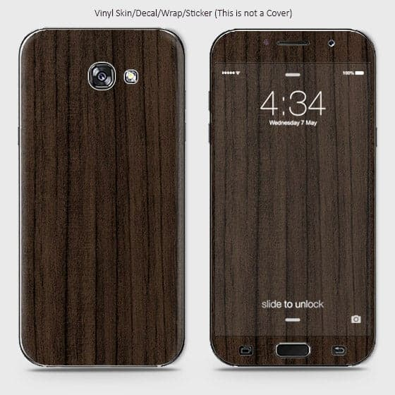 Wood Material Vinyl Phone Skin For Samsung A5 2017 - Walnut Wood