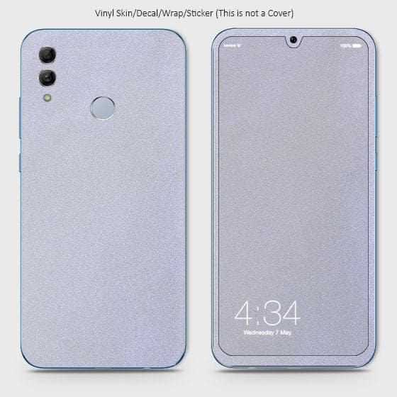 Matte Material Vinyl Phone Skin For Huawei Honor 10 Lite - Silver