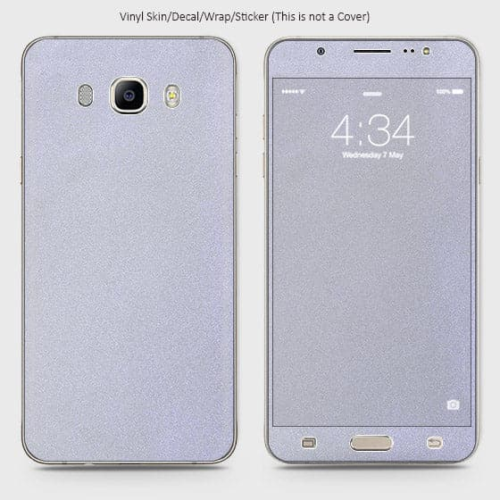 Matte Material Vinyl Phone Skin For Samsung Galaxy J510 - Silver