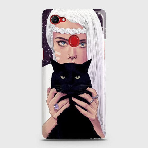 Trendy Wild Black Cat Case For Oppo F7 Youth / Realme 1