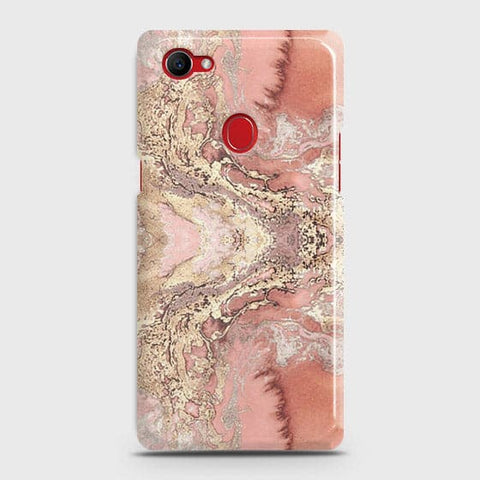 Trendy Chic Rose Gold Marble 3D Case For Oppo F7 Youth / Realme 1