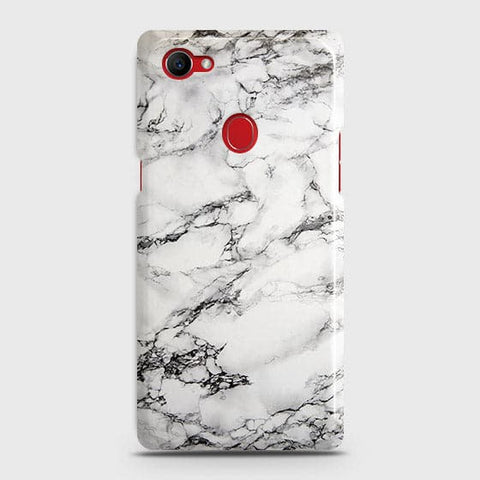 Trendy White Floor Marble Case For Oppo F7 Youth / Realme 1