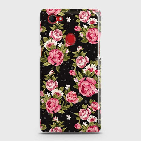 Trendy Pink Rose Vintage Flowers Case For Oppo F7 Youth / Realme 1