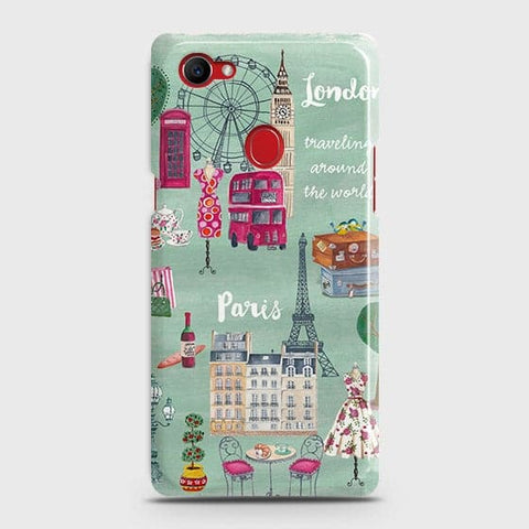 London, Paris, New York Modern Case For Oppo F7 Youth / Realme 1