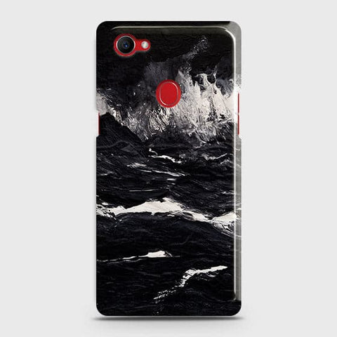 3D Black Ocean Marble Trendy Case For Oppo F7 Youth / Realme 1