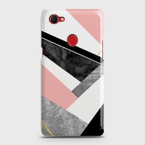 Geometric Luxe Marble Trendy Case For Oppo F7 Youth / Realme 1