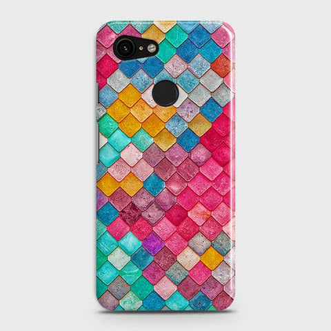 Google Pixel 3 XLCover - Chic Colorful Mermaid Printed Hard Case with Life Time Colors Guarantee