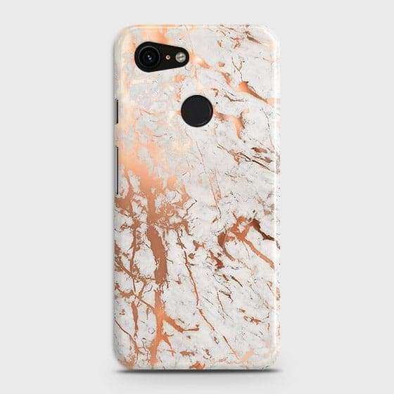 lowest price 63ac0 c373d 3D Print in Chic Rose Gold Chrome Style Case For Google Pixel 3 XL