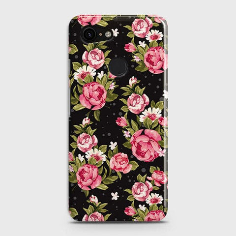 Trendy Pink Rose Vintage Flowers Case For Google Pixel 3 XL