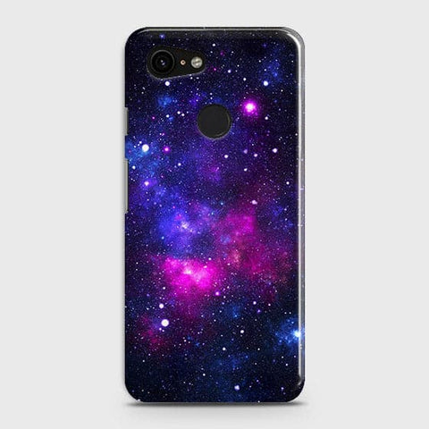 Google Pixel 3 XL Cover - Dark Galaxy Stars Modern Printed Hard Case with Life Time Colors Guarantee