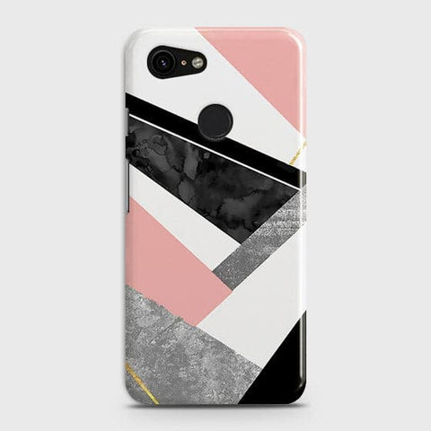 Geometric Luxe Marble Trendy Case For Google Pixel 3