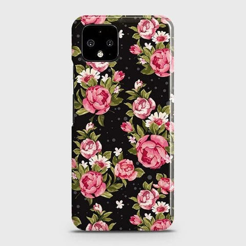 Trendy Pink Rose Vintage Flowers Case For Google Pixel 4