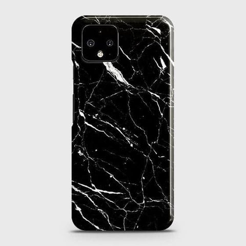 Google Pixel 4 XL Cover - Trendy Black Marble Printed Hard Case with Life Time Colors Guarantee