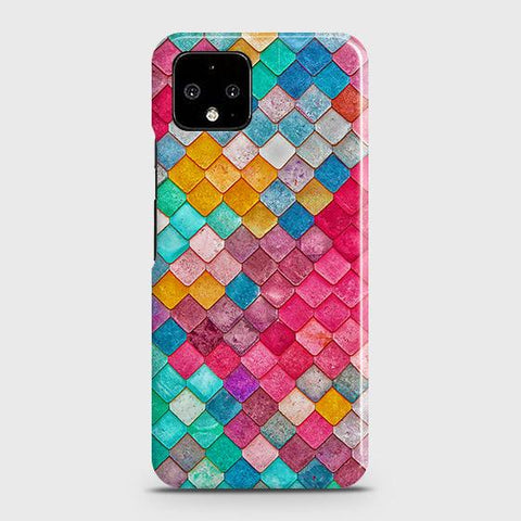 Google Pixel 4 XL Cover - Chic Colorful Mermaid Printed Hard Case with Life Time Colors Guarantee