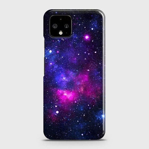 Google Pixel 4 XL Cover - Dark Galaxy Stars Modern Printed Hard Case with Life Time Colors Guarantee