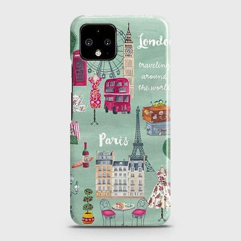 Google Pixel 4 XL Cover - London, Paris, New York ModernPrinted Hard Case with Life Time Colors Guarantee