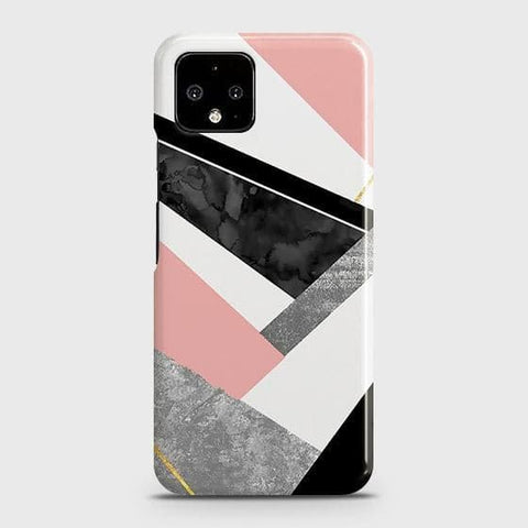 Google Pixel 4 XL Cover - Geometric Luxe Marble Trendy Printed Hard Case with Life Time Colors Guarantee