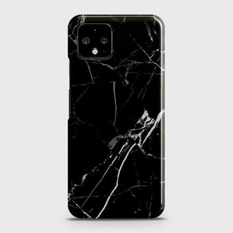 Google Pixel 4 XL Cover - Black Modern Classic Marble Printed Hard Case with Life Time Colors Guarantee