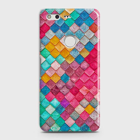 Chic Colorful Mermaid 3D Case For Google Pixel XL