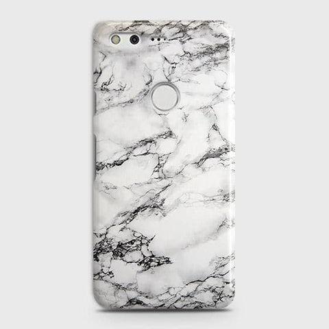 Google Pixel XL Cover - Trendy White Floor Marble Printed Hard Case with Life Time Colors Guarantee