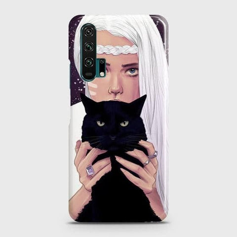 Trendy Wild Black Cat Case For Honor 20 Pro