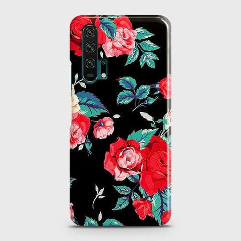 Luxury Vintage Red Flowers Case For Honor 20 Pro