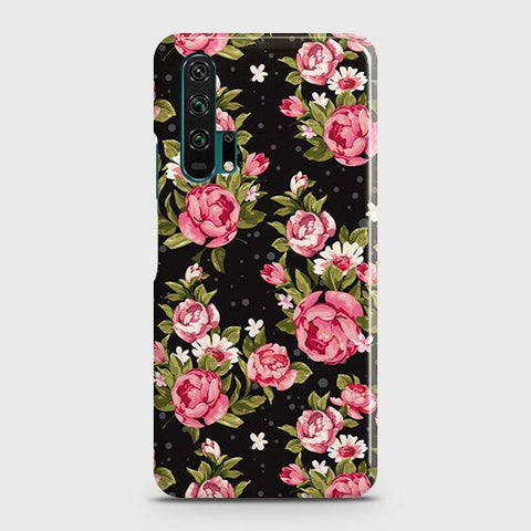Trendy Pink Rose Vintage Flowers Case For Honor 20 Pro