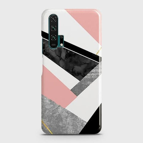 Geometric Luxe Marble Trendy Case For Honor 20 Pro
