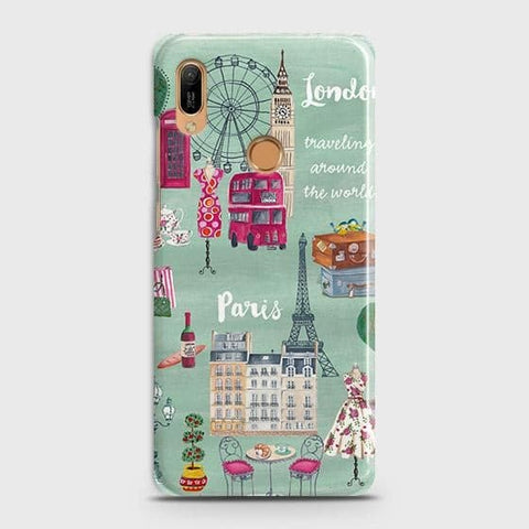 Honor 8A Pro Cover - London, Paris, New York ModernPrinted Hard Case with Life Time Colors Guarantee