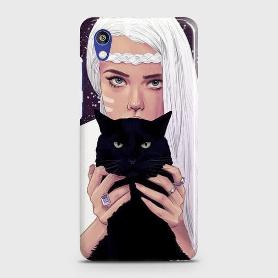 Huawei Honor 8S Cover - Trendy Wild Black Cat Printed Hard Case with Life Time Colors Guarantee
