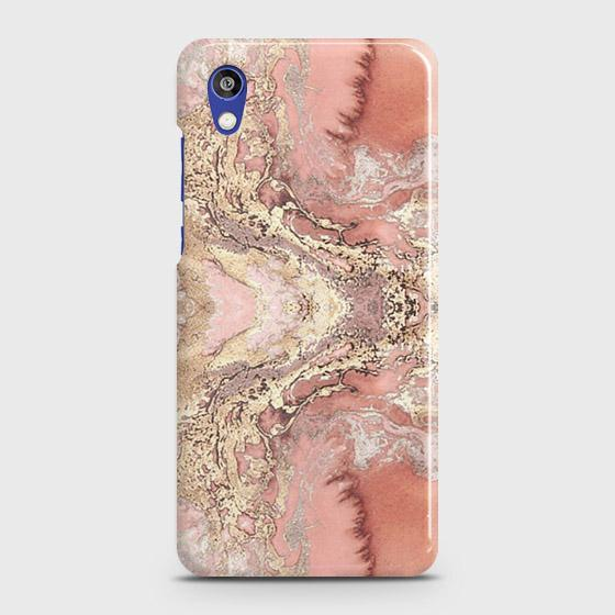 Huawei Honor 8S Cover - Trendy Chic Rose Gold Marble Printed Hard Case with Life Time Colors Guarantee