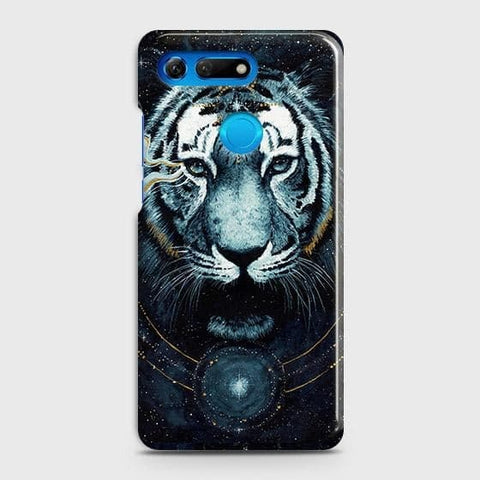 Huawei Honor View 20 Cover - Vintage Galaxy Tiger Printed Hard Case with Life Time Colors Guarantee